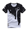 Made in China Men's Fashion Black T-shirt Printing With Custom Logo