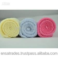 High quality organic cotton face towel