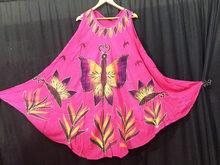 beach style hippie boho tie dye handmade butterfly kaftan tank umbrella dress retro design tops