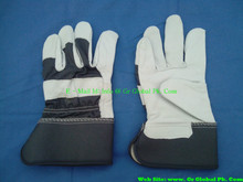 Cow Grain Leather Mechanic Gloves long cow split good leather glove B/C grade