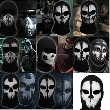 Ghost Biker Skull Hood Face Mask Motorcycle Ski Balaclava Sports cap hat