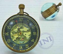 Antique Table Ball Clock, Mini Table Ball Clock, Brass Fancy Table Clock