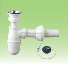 Kitchen sink drainer pipe with strainer , wash basin waste sewer,sink bottle trap ZAT-ZD2472