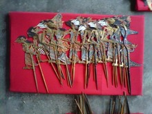 Wayang Kulit / Shadow Play Puppet - 1 set 150 pcs - Pentas / for Perform - used