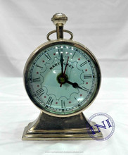 Business Gift Table Clock, Home Decor Table Clock, Exclusive Brass Table Clock