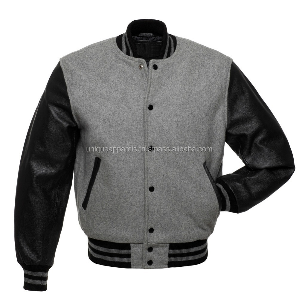 IN-STOCK WOOL/LEATHER HOODIE Jackets