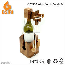 wine bottle puzzle A wooden brain puzzles