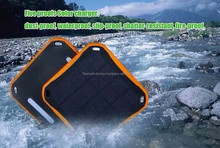 2.5W Travelling Solar Panel Dual USB Backup External Charger 5600mAh led lamp Mobile Waterproof Solar Battery