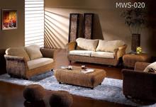 Luxo móveis para sala - único conjunto de sofá de madeira frame by mão de vime interior móveis de vime