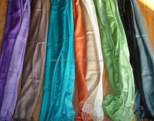 Classic Double side Solid color Viscose Scarf and Shawl wholesale stole Viscose pashmina scarves scarf