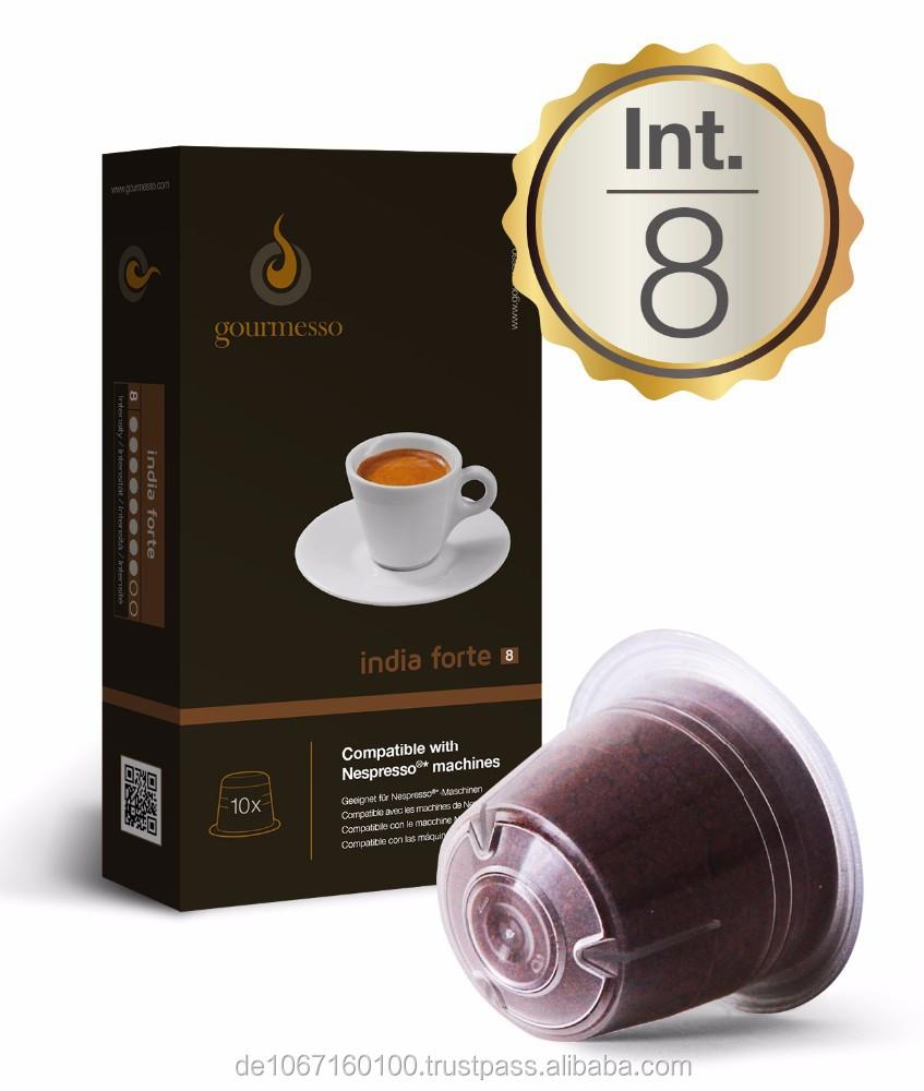 nespresso capsules 10 x colombia india forte compatible. Black Bedroom Furniture Sets. Home Design Ideas