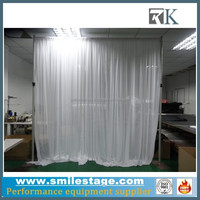 6-10 feet tall freestanding pipe and drape wall