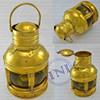 Large Coloured Glass Brass Lantern, Decorative Brass Lantern, Brass Marine Lantern