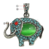 more colors for choice with Cats Eye Zinc Alloy Animal Pendants