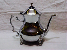 Silver Plated Brass Tea Coffee Kettle With Leg