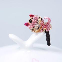 New Cute Diamond Cat Pattern Anti Dust Cap Earphone Plug For Phone Cell Phone #62684