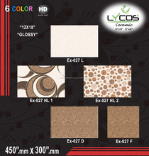 Lycos 300x300 Polished Golden and Black Decorative Ceramic Wall Tile