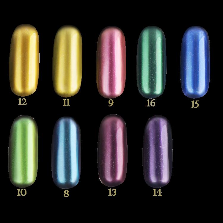 Fengshangmei ongles holographique poudre chrome en for Effet miroir psychologie definition