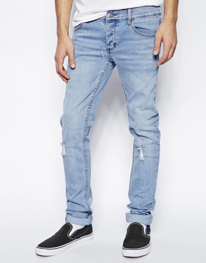 Cheap Monday Jeans Blue Mens Narrow Shaped Jeans