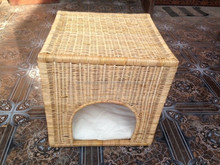 Very cute dog cage indoor, rattan dog cage, eco-friendly and non-toxic for animal, item No. HDAC01