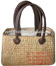 Mejor calidad caliente de la venta de tres tonos natural <span class=keywords><strong>rojo</strong></span> verde jacinto de agua de la manija del bolso de Vietnam