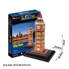 Cubic Fun 3D Jigsaw Puzzle DIY Educational Model Toy Building Big Ben Clock Tower London