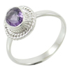 925 Marked Sterling Silver Ring Amethyst Gemstone India Fashion Jewellery Gift SJR5745A