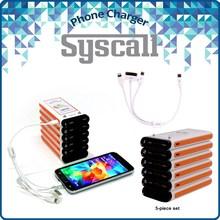 USB portable restaurant power bank phone charging station