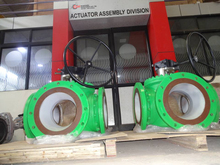 Gear Operated 4-Way Ball Valve Size : 300 MM