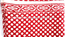 RTHCFC-23 Red Polka Dot 100% Export Quality fabric Wooden block printed fabric Border Style manufacturer Suppliers jaipur