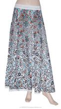 2015 fotos de faldas largas algodón cíclico faldas indio faldas largas