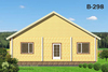 House from planed log b298, b300, b336 in Russia