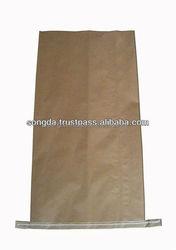 3 layers virgin kraft paper bag with side gusset - 2015 new design