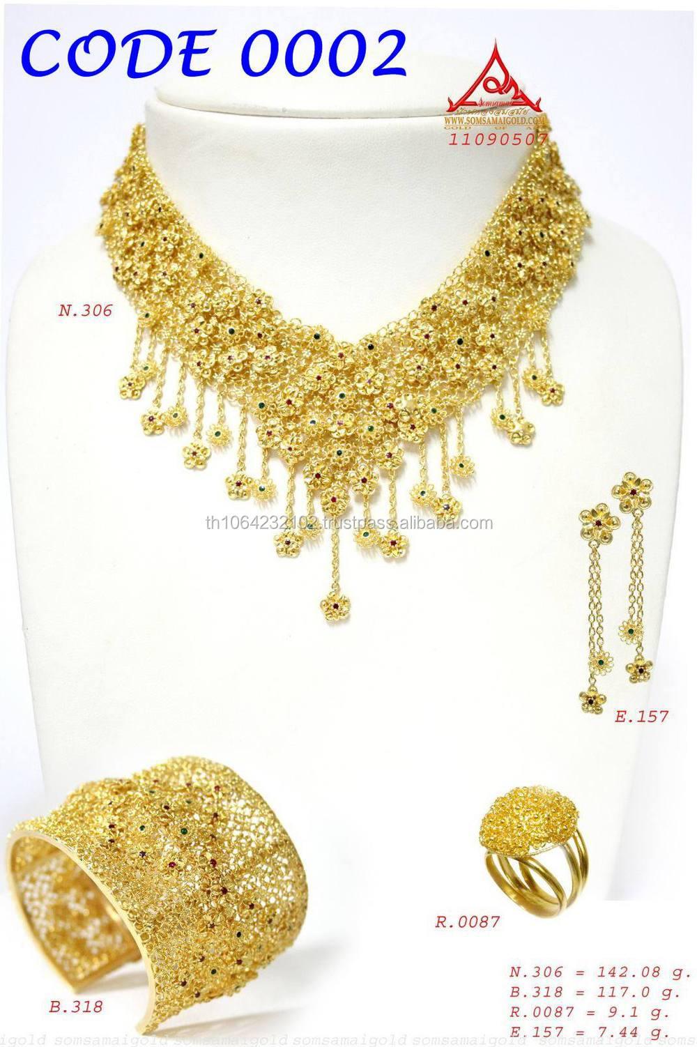 24k( 99.99%) collier en or de l\'artisanat spéciale( no. 0007 ...