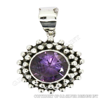 amethyst pendant sterling silver,sterling silver pendant wholesale,jewelry manufacturer for sale