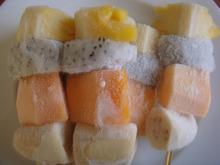 FROZEN FRUIT MIXED (MANGO, BANANA, DRAGON FRUIT, PAPAYA)