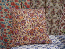 Cotton Cushion Cover indian Hand block printed creeper design
