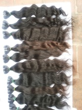 popular virgin human remy hair Double weft shedding free 100% genuine raw brazilian hair extension