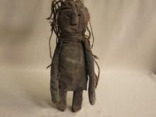Old african tribal art doll statuette-BAGARA-SOUTH SUDAN