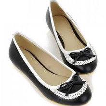 Sexy Flats Cute Bow and Engraving Design Women's Flat Shoes