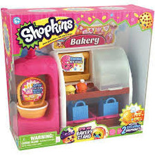 Shopkins Mini Figure Playset Spin Mix Bakery Stand