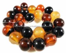 Gemstone Beads/AAA quality natural semi precious polished multi agate rosary beads/all semi precious gemstone beads