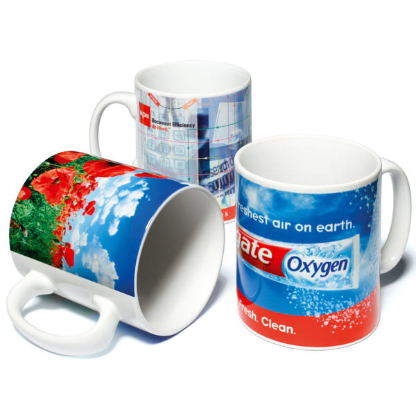 Wholesale 11oz White Ceramic Coffee Mug Promotional
