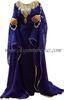Royal Blue umbrella cut Dubai style kaftan farasha abaya
