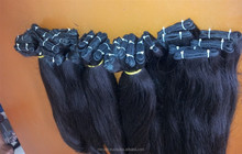 Ideal weft straight hair human hair grade 7A wavy Vietnamese virgin human hair model 12