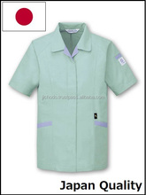 Low dust working uniform, short sleeves smocks with eco friendly and antistatic fabric ( spring and summer ) Made by Japan