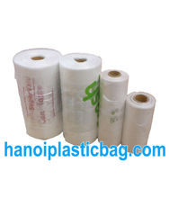 HIGH QUALITY PLAIN T SHIRT BAG ON ROLL WITH CORE - hanoi plastic bag jsc skype: jennifer.hanoiplasticbag