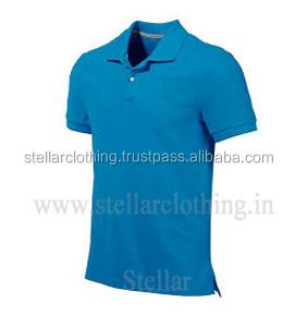 65% polyester 35% Cotton Polo T-shirt - Blue.jpg