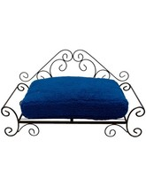 big heart pet bed blue