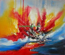 Handmade abstract oil painting rose DIY